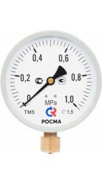 Манометр 100*1/2 16 бар ТМ-510Р 10 М2 ниж подк (РОСМА)