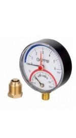 """Термоманометр радиальный 1/2"""" 6 бар G1472 (5/60)"""